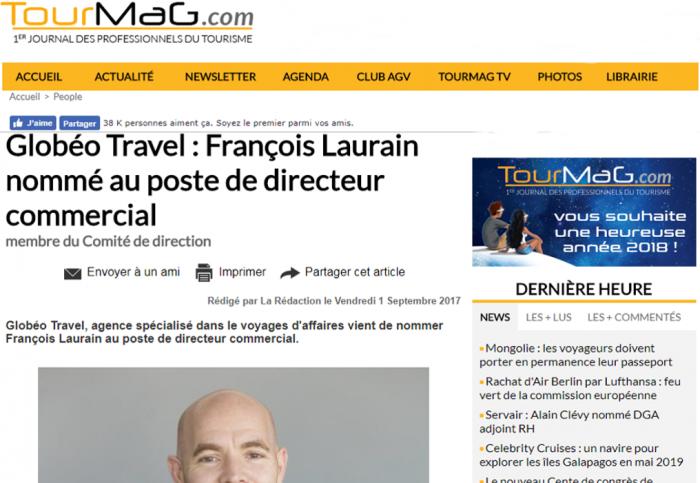 François Laurain, nouveau directeur commercial